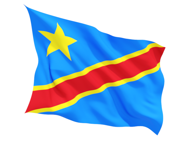 democratic republic of the congo fluttering flag 640